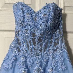 Blue prim dress